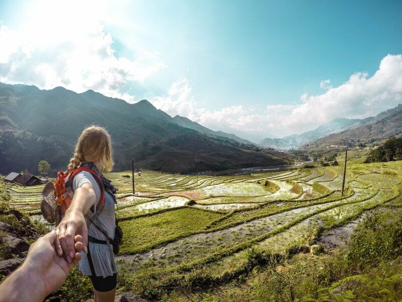 Balancing on the borders of Ricefields in Sapa