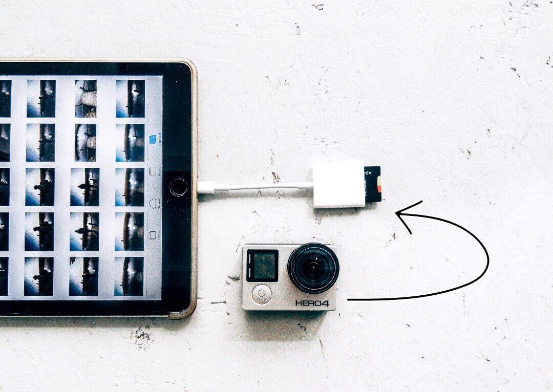 Backup photos while traveling gopro ipad