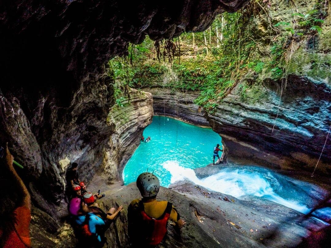 Canyoning Cebu Jump Off Waterfalls In The Philippines