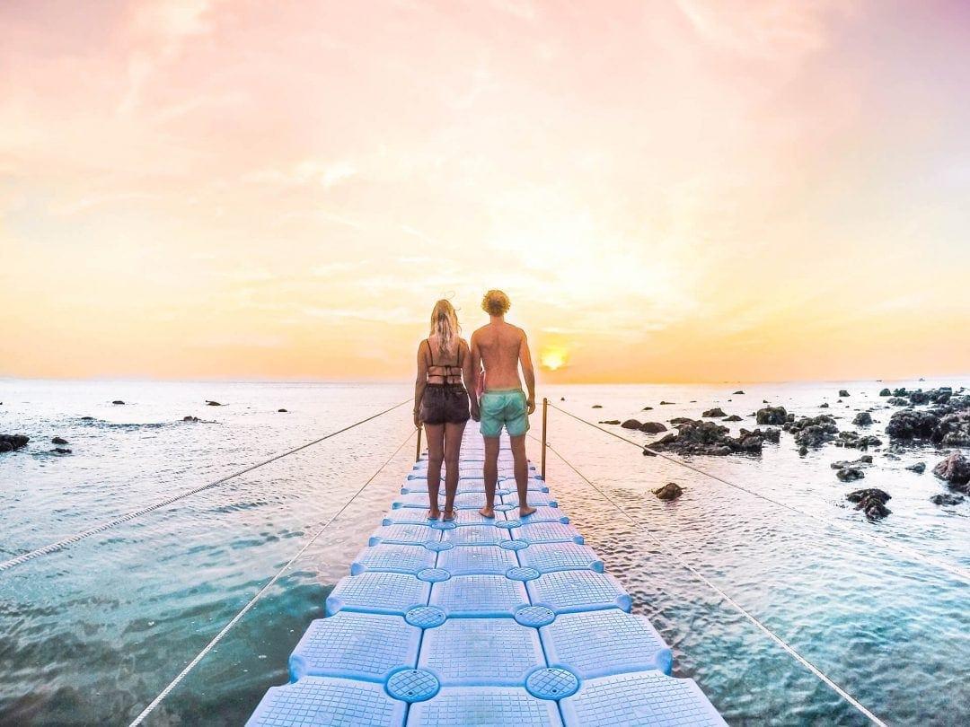 koh lanta sunset travel couple instagram