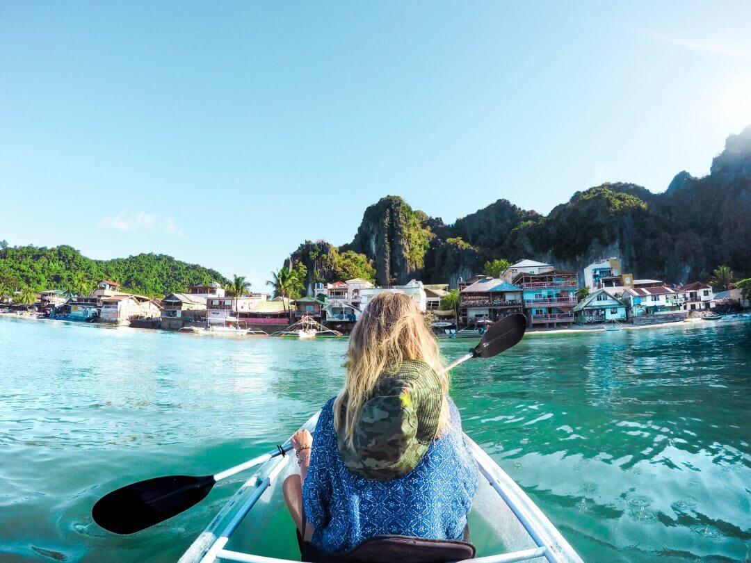 Philippines Elnido Clear Kayak village