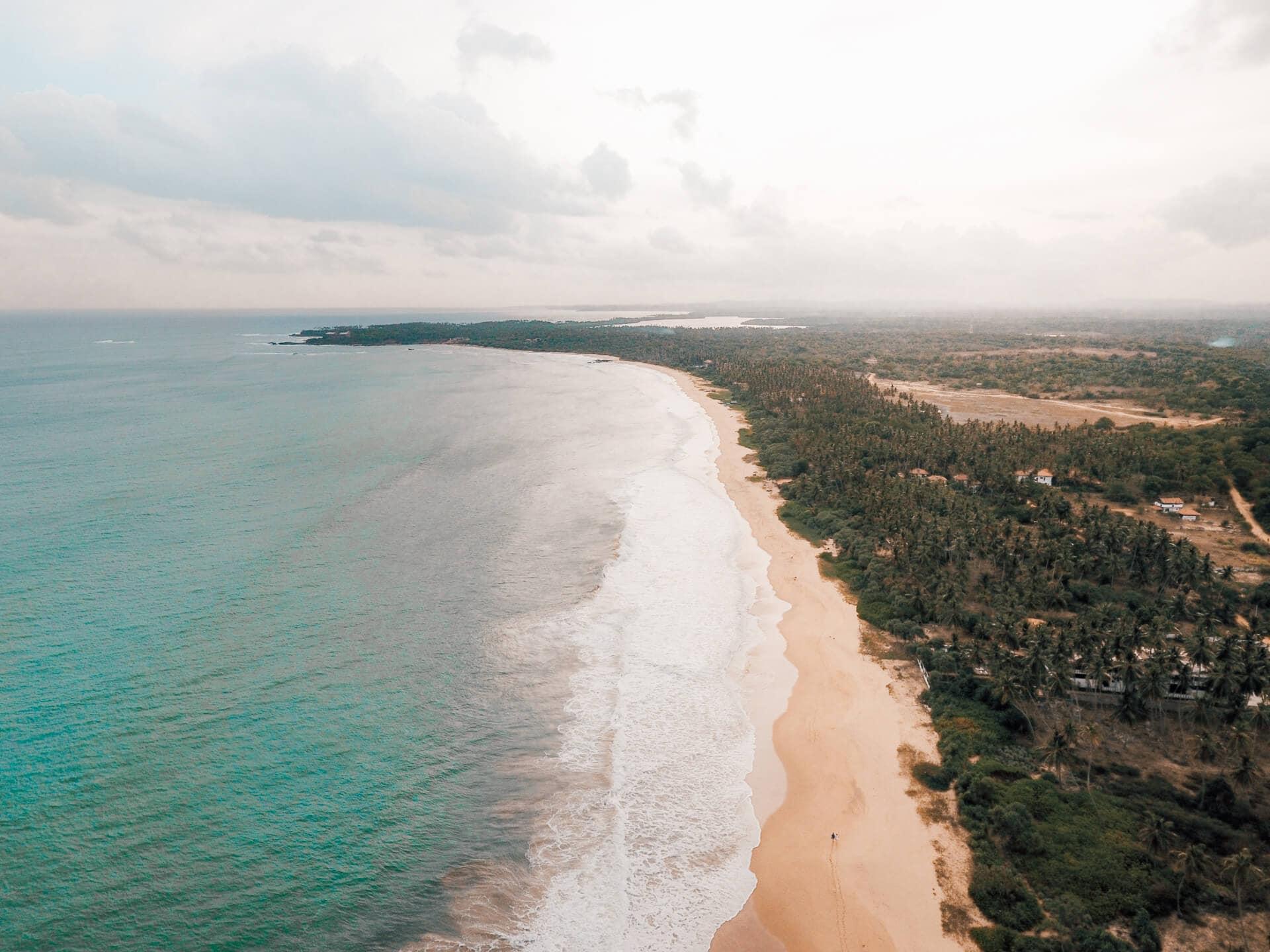 sri lanka beaches tangalle drone