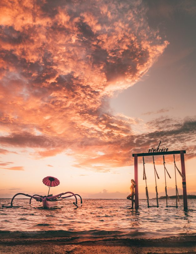 things to do gili air pinkcoco swing