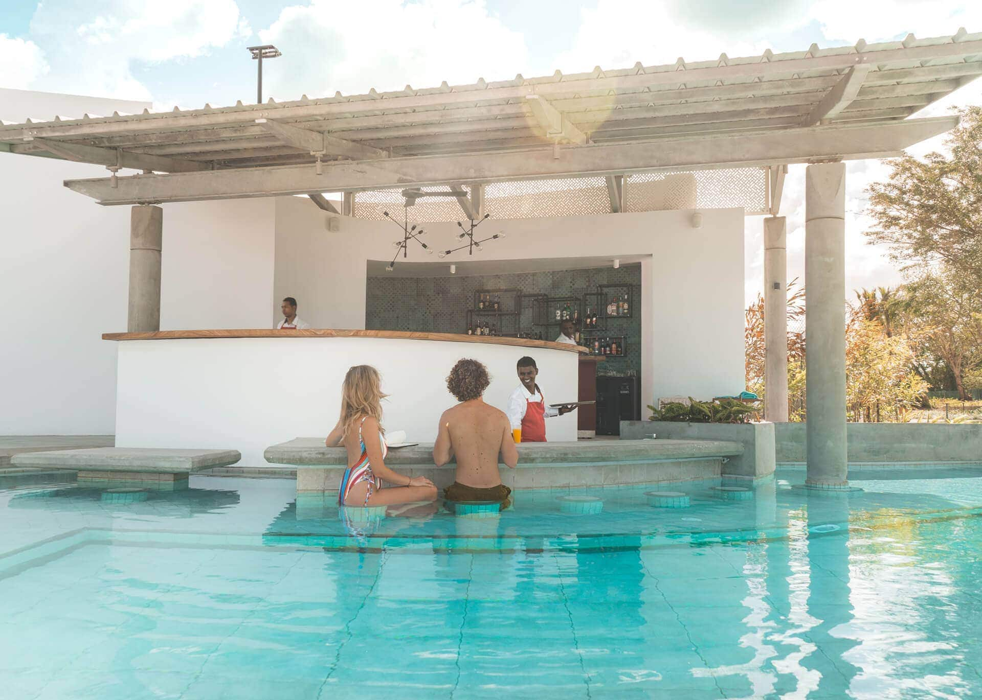 Best couples resort Mauritius pool bar