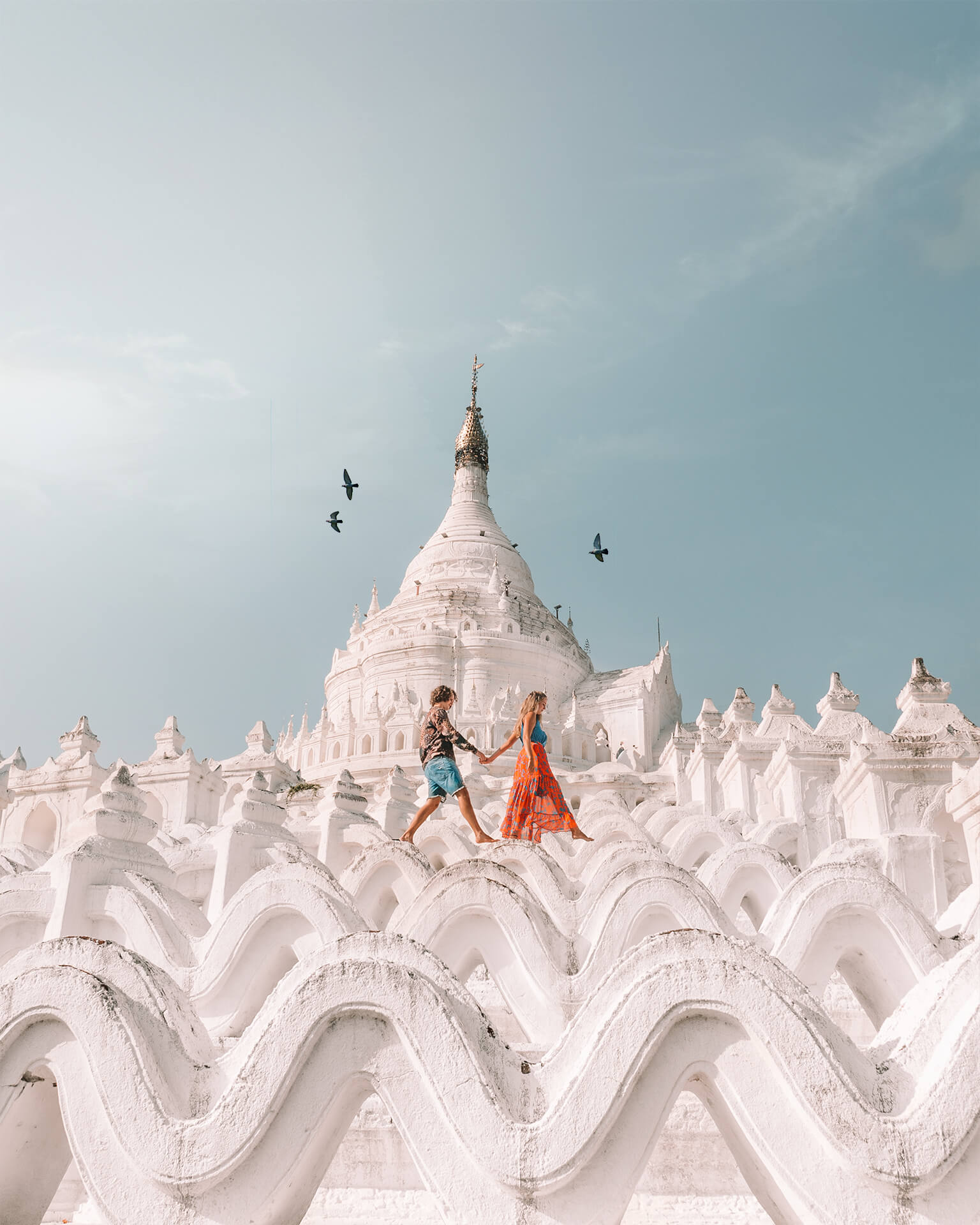 Things to do Mandalay Myanmar Hsinbyume Pagoda