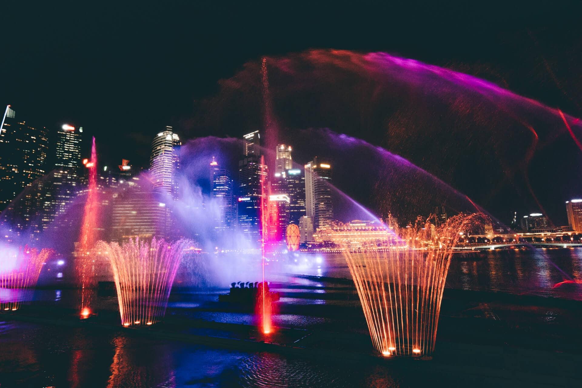 things to do singapore night show marina bay