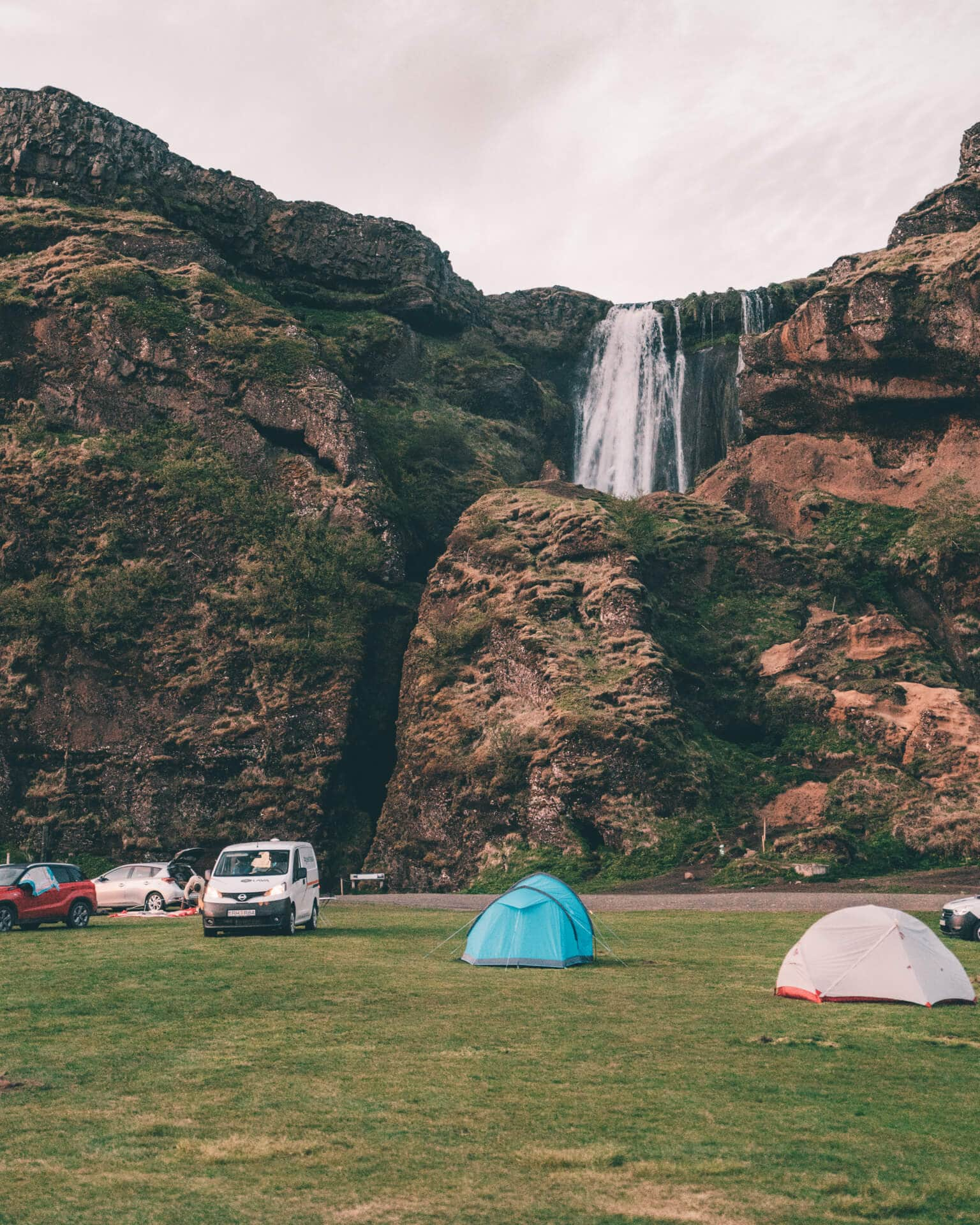 camping iceland car tent