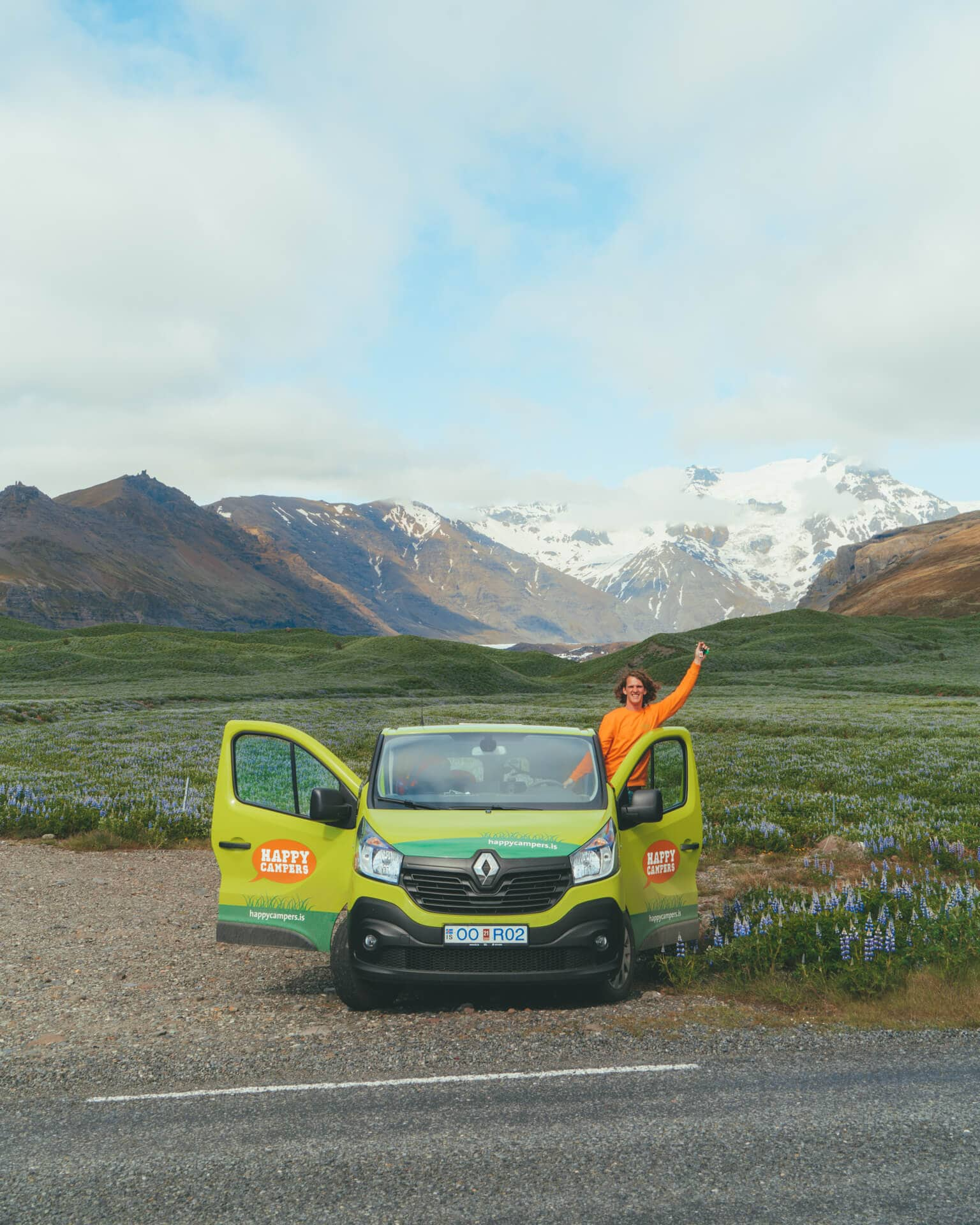 camping in iceland mountains freedom