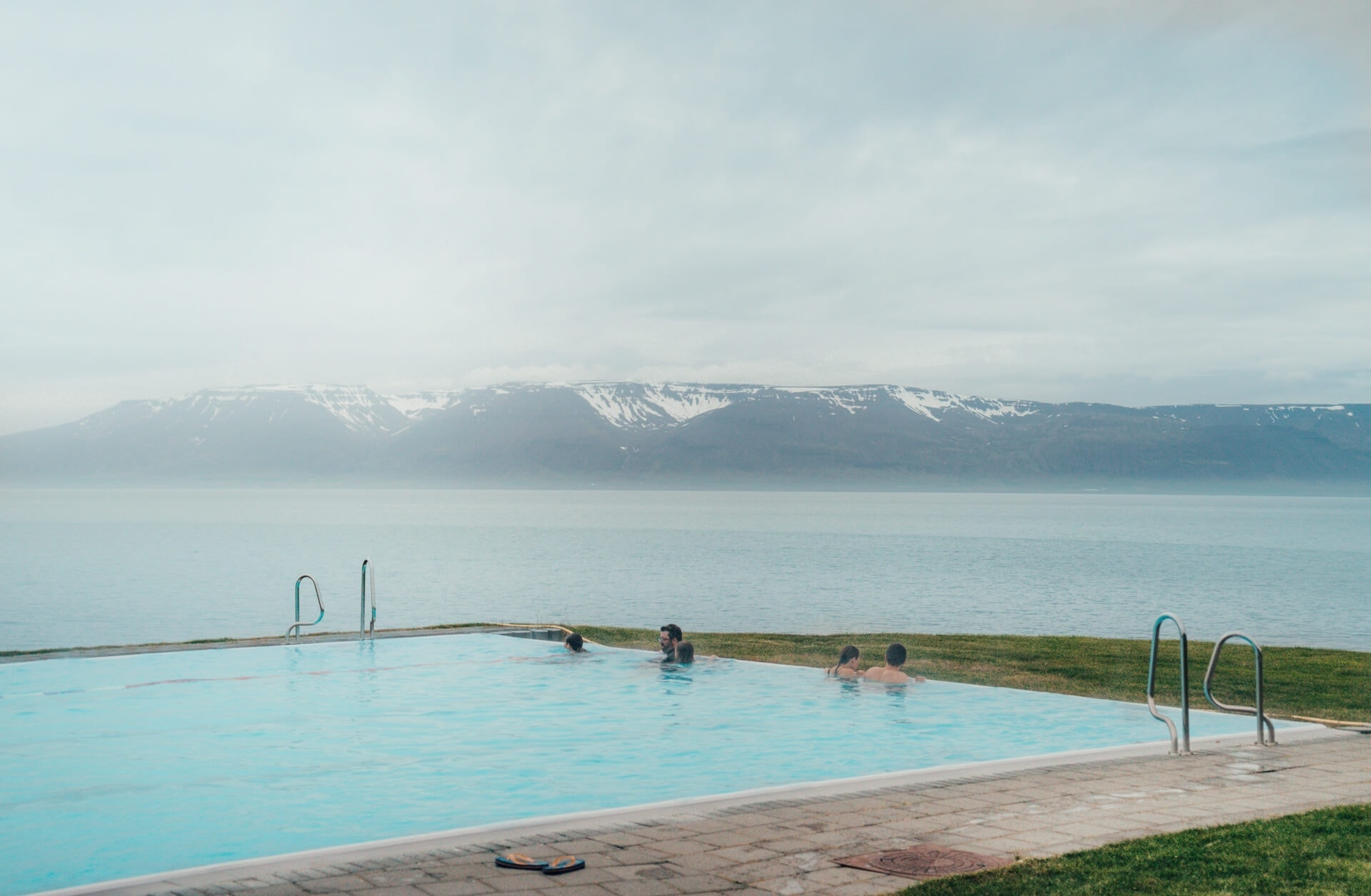 campsites iceland infinity pool hofsos