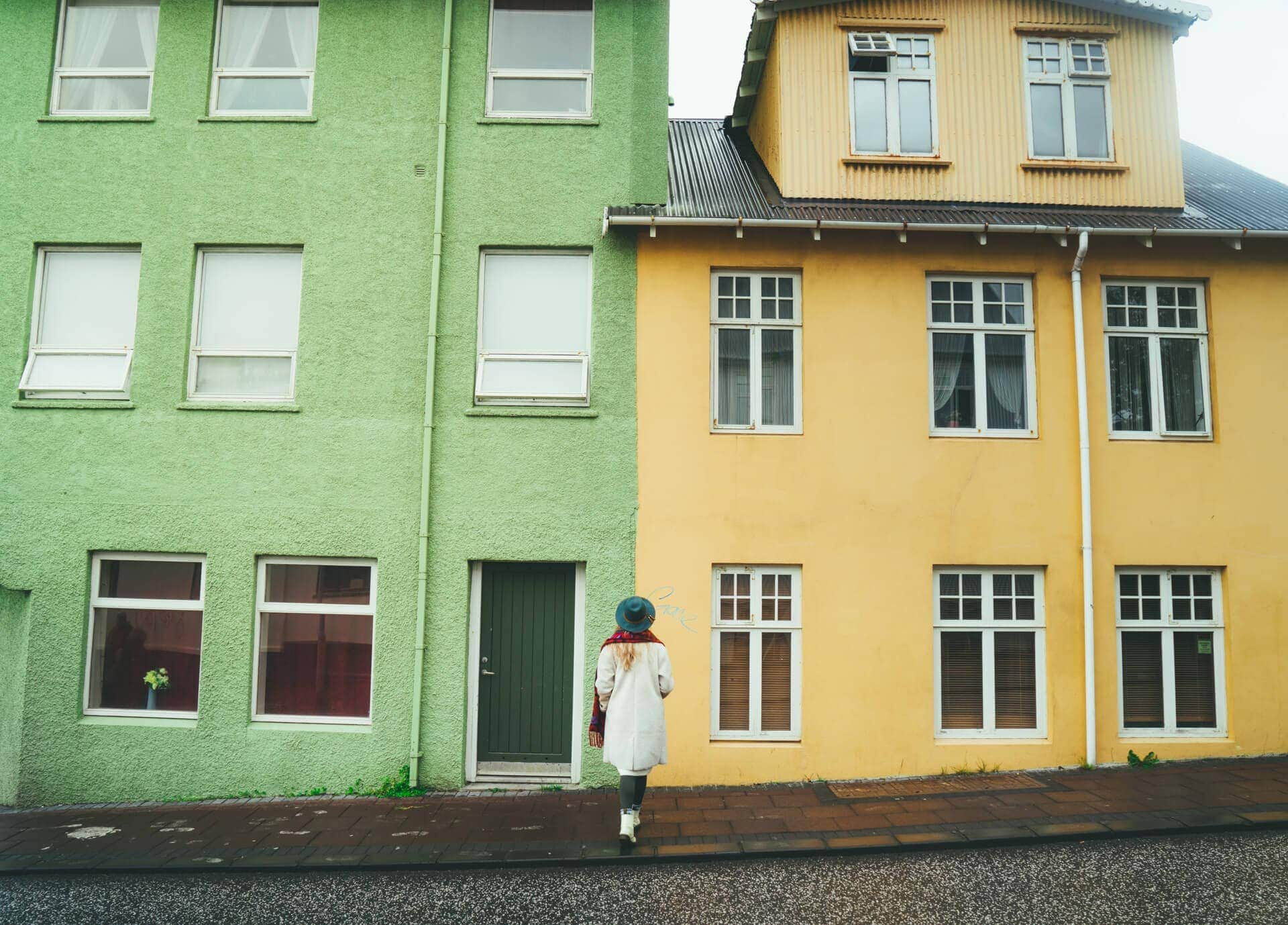 what to do reykjavik coloured houses green