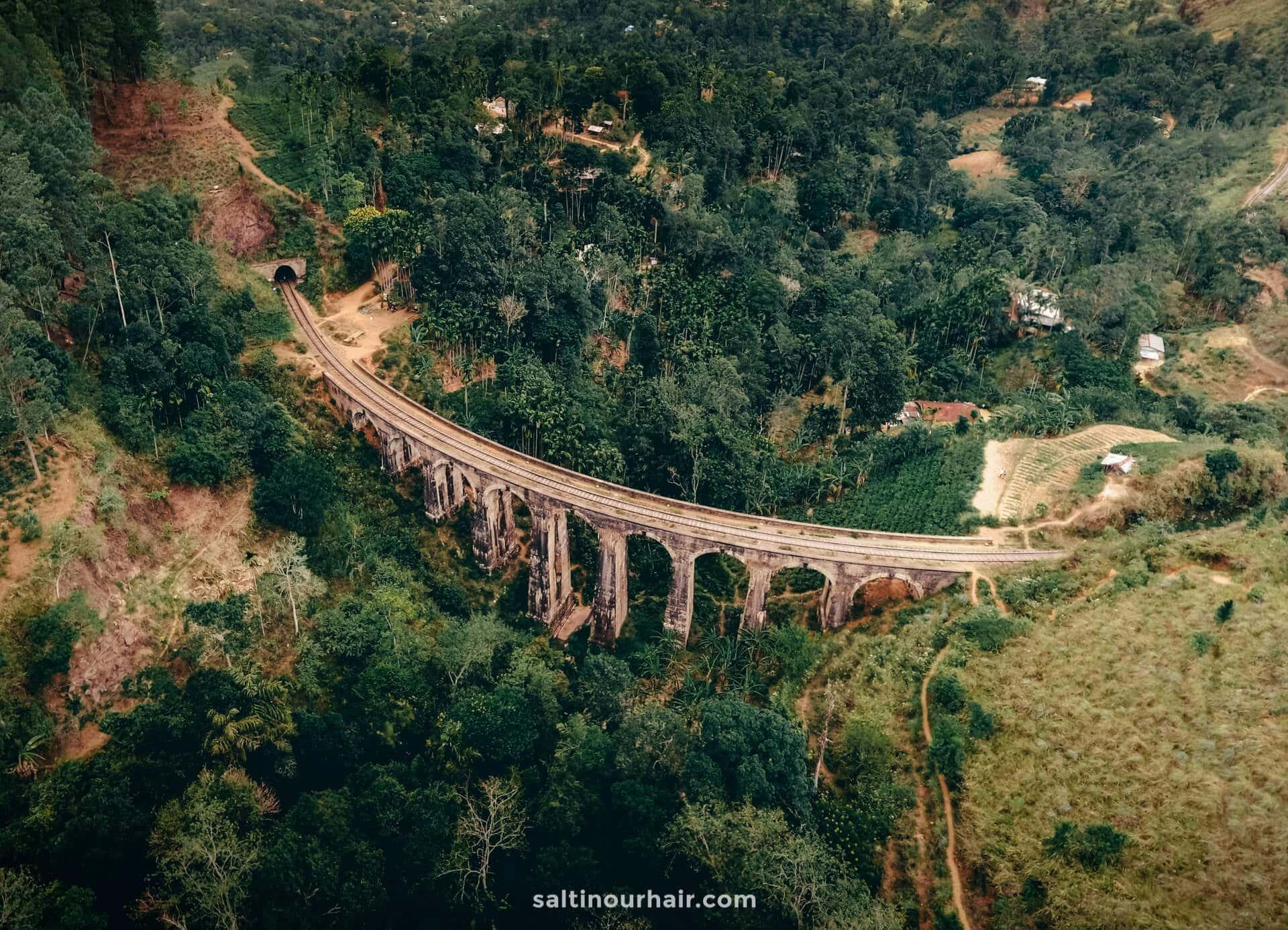 sri lanka nine arch bridge ella drone