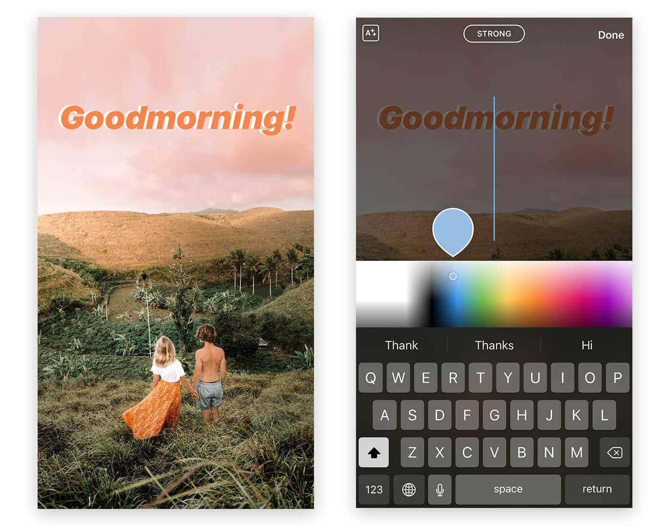 instagram stories tips tricks text