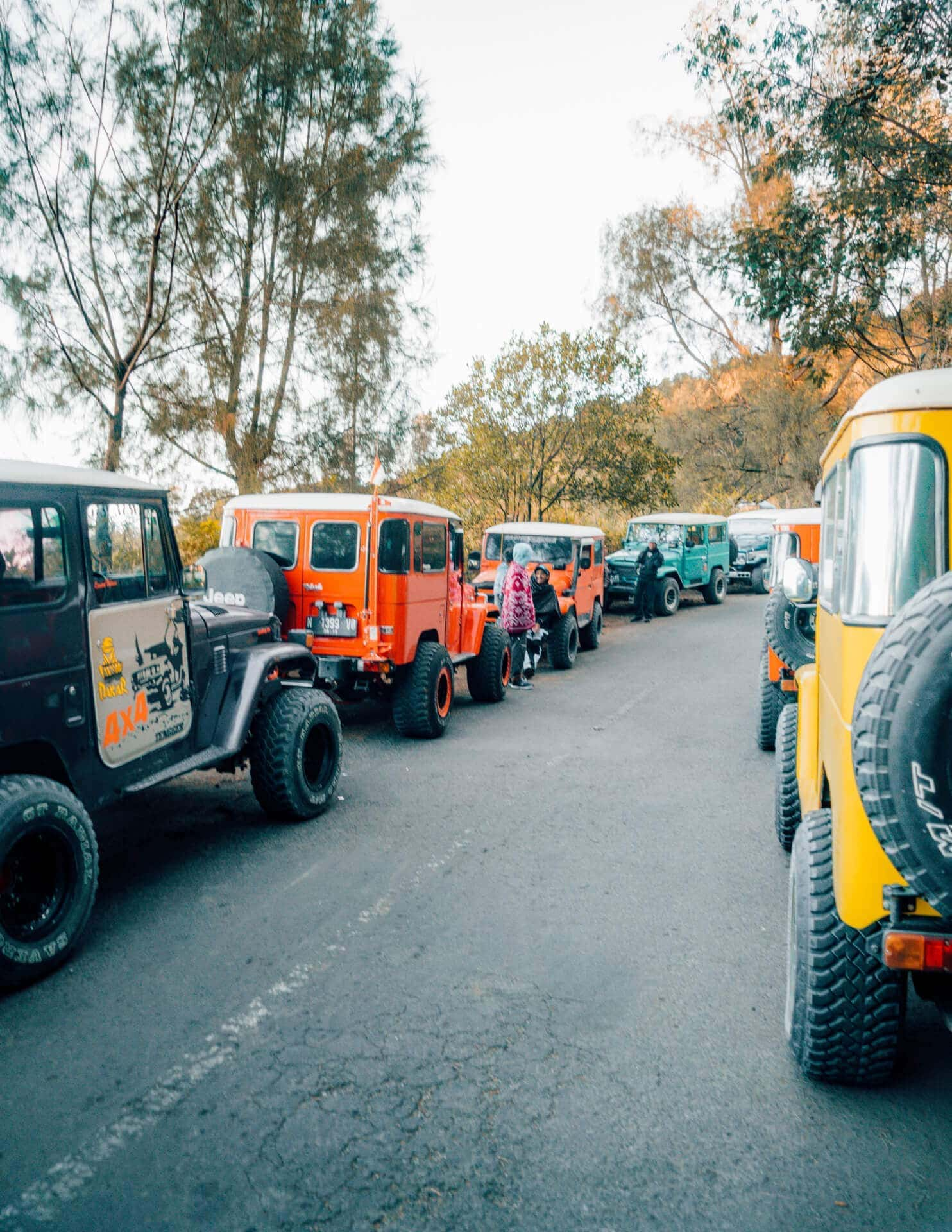visit bromo tour jeep traffic