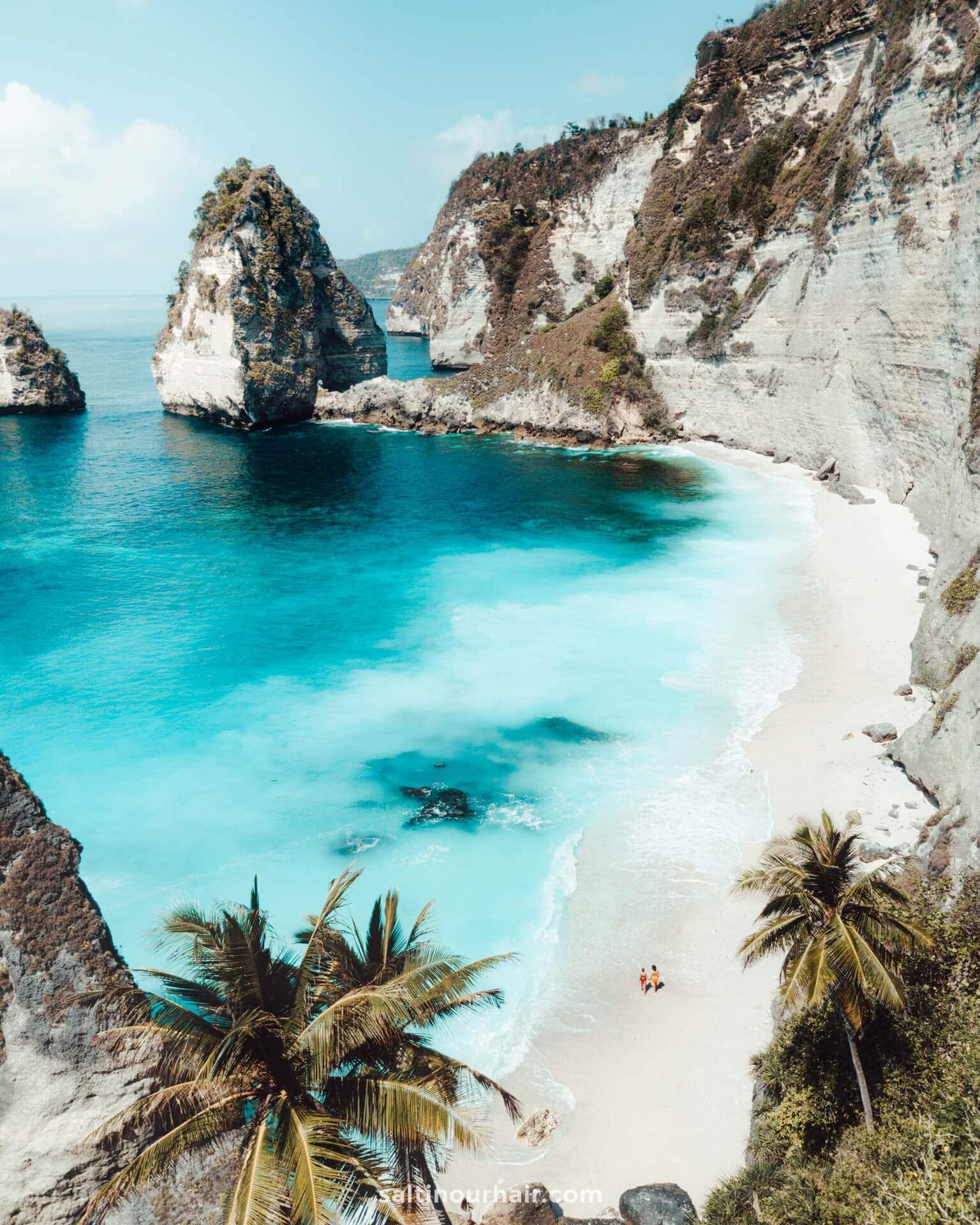 diamond beach nusa penida drone