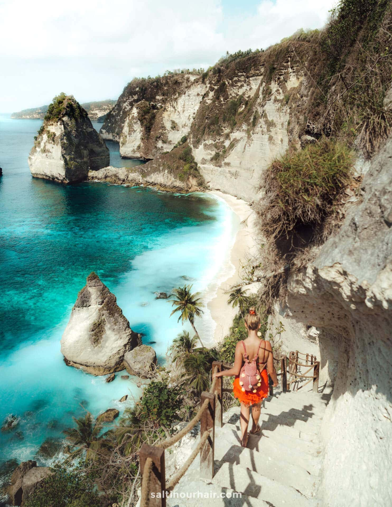 things to do nusa penida diamond beach stairs
