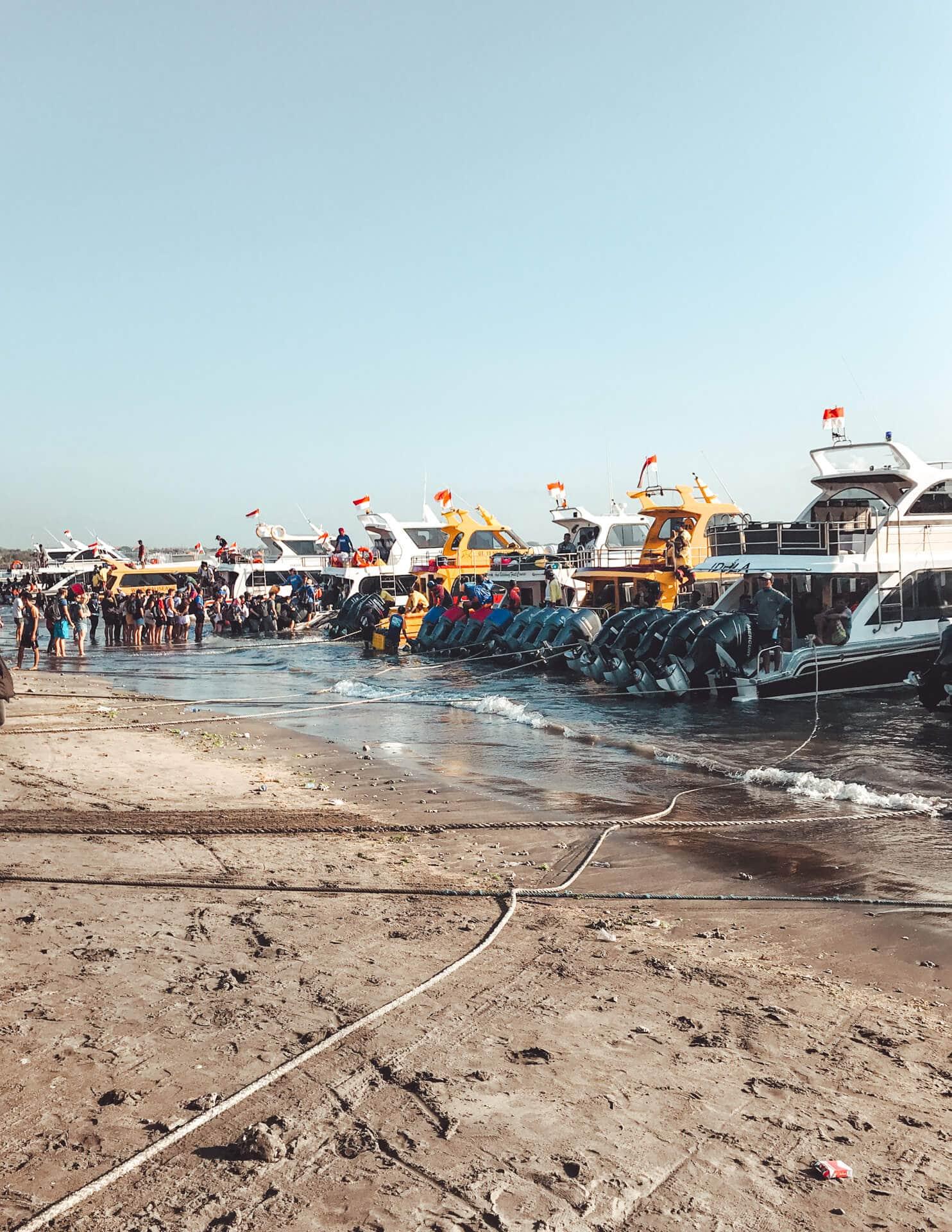 nusa penida trip bali ferry beach boat