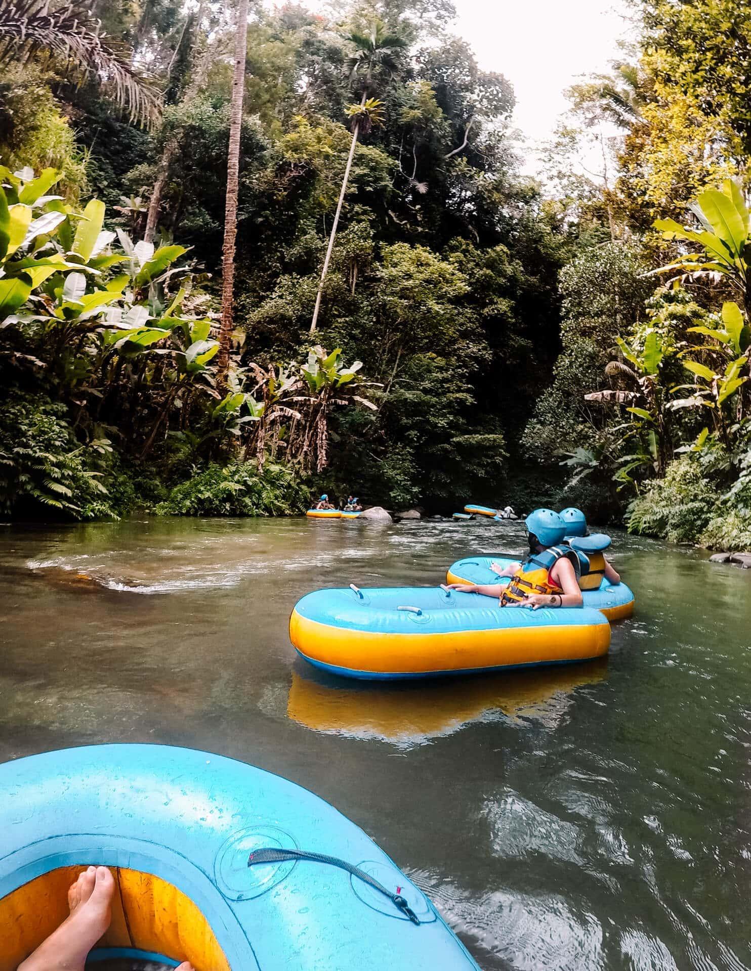 things to do ubud tubing jungle