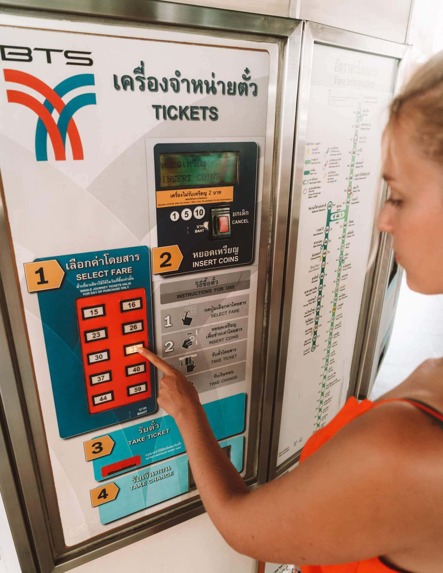 things to do bangkok bts ticket