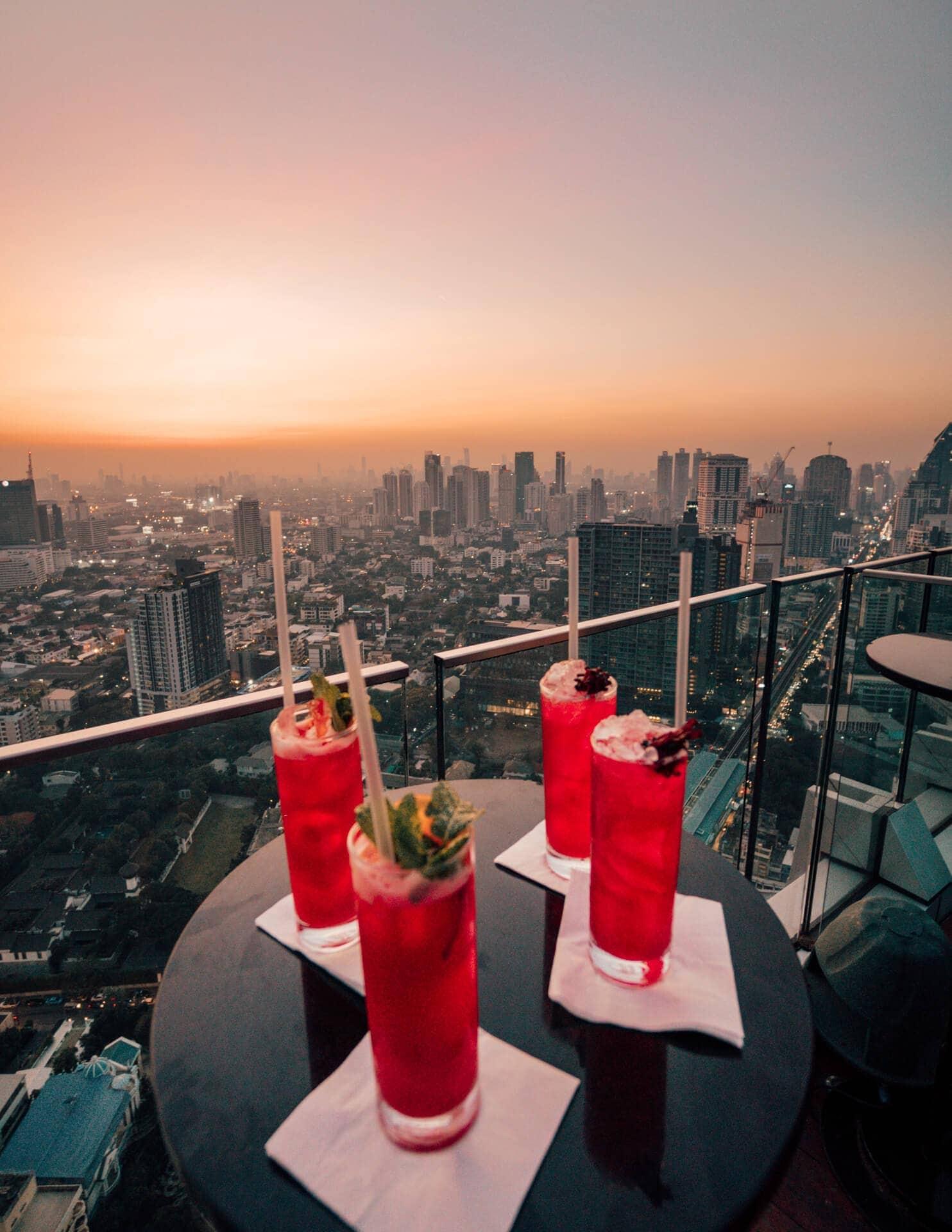 things to do bangkok rooftop bar drinks
