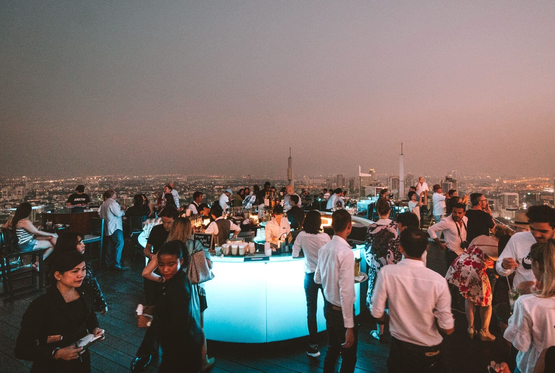 things to do bangkok rooftop bar