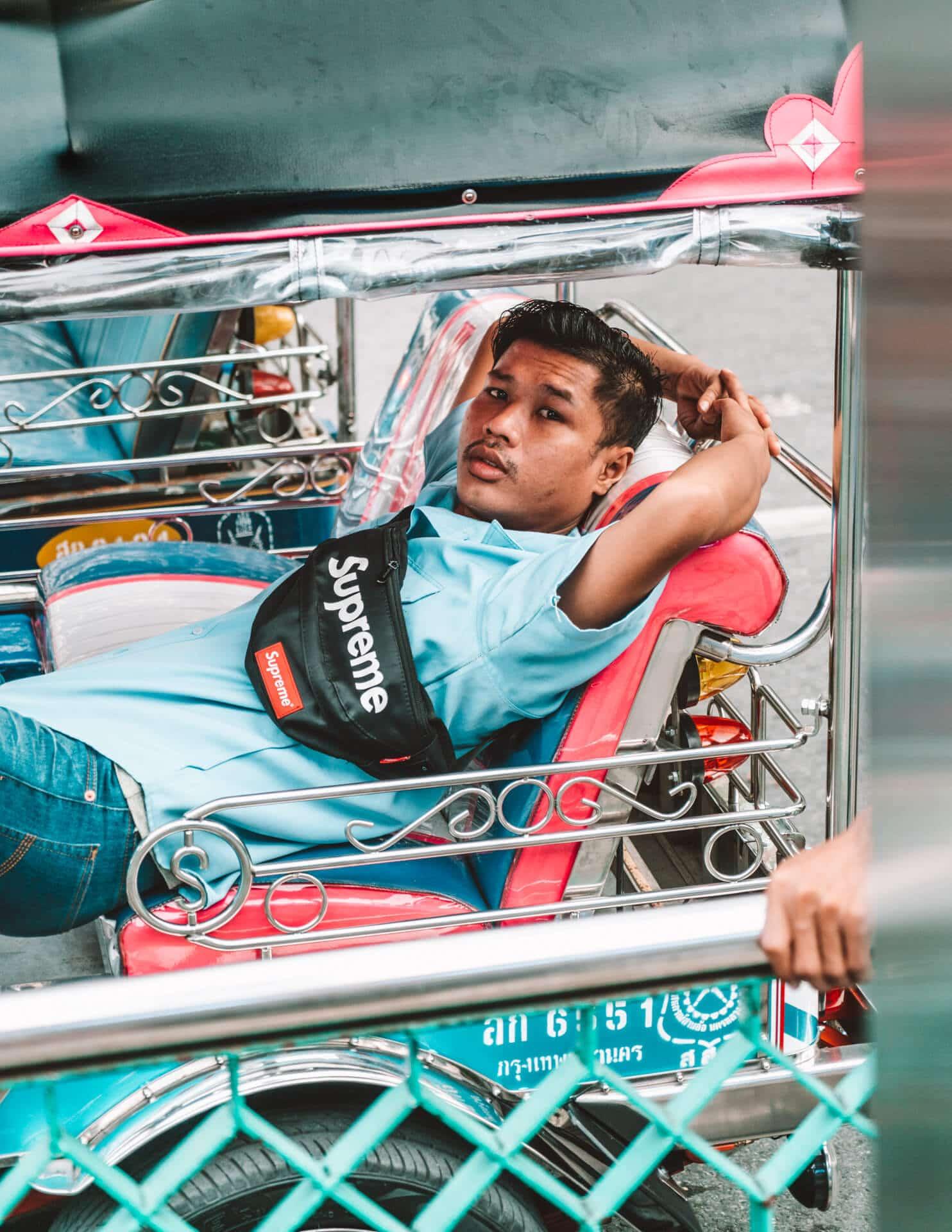 things to do bangkok tuktuk driver