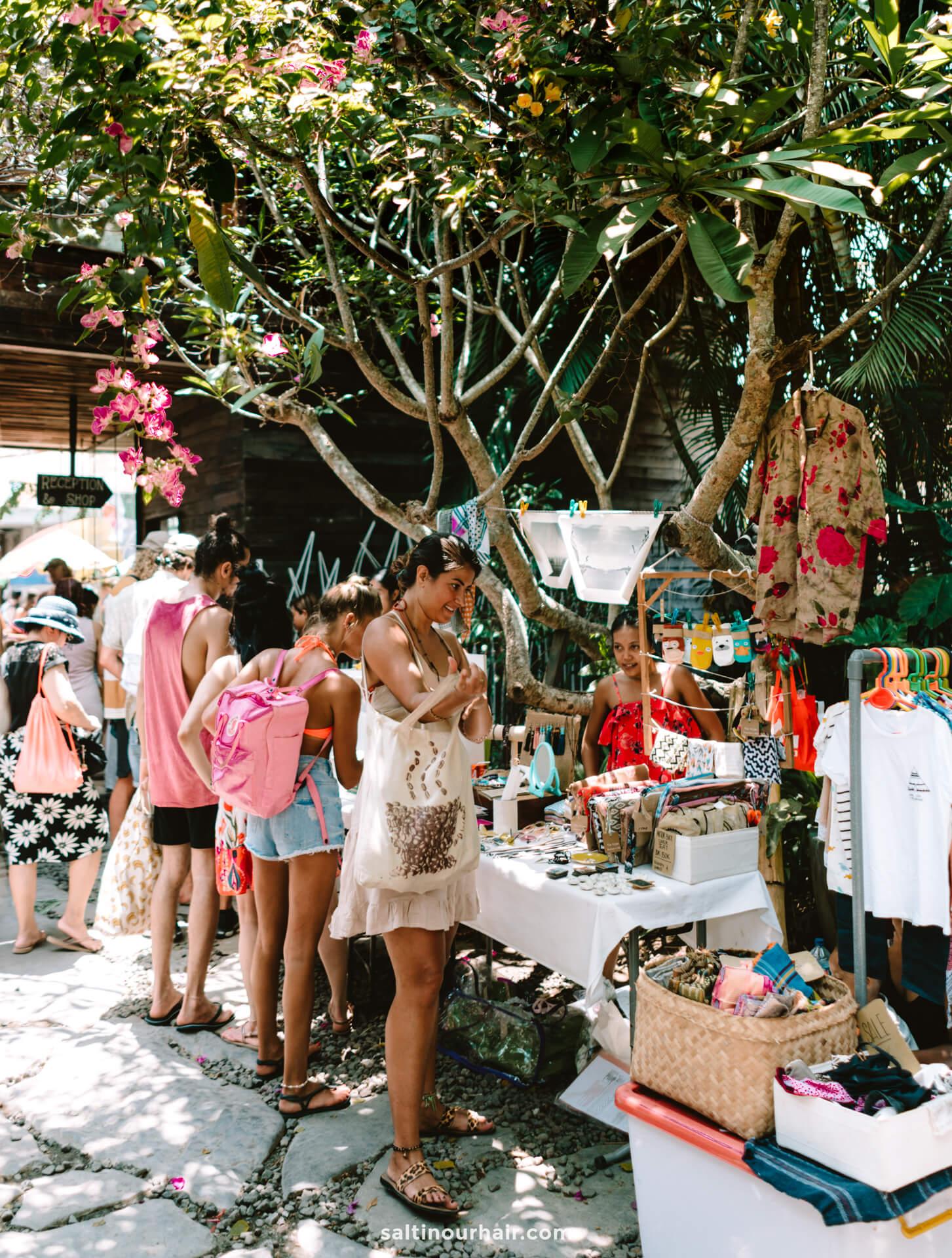 things to do canggu bali Sunday Market fashion