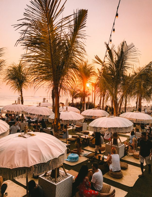 things to do canggu bali beach bar lawn