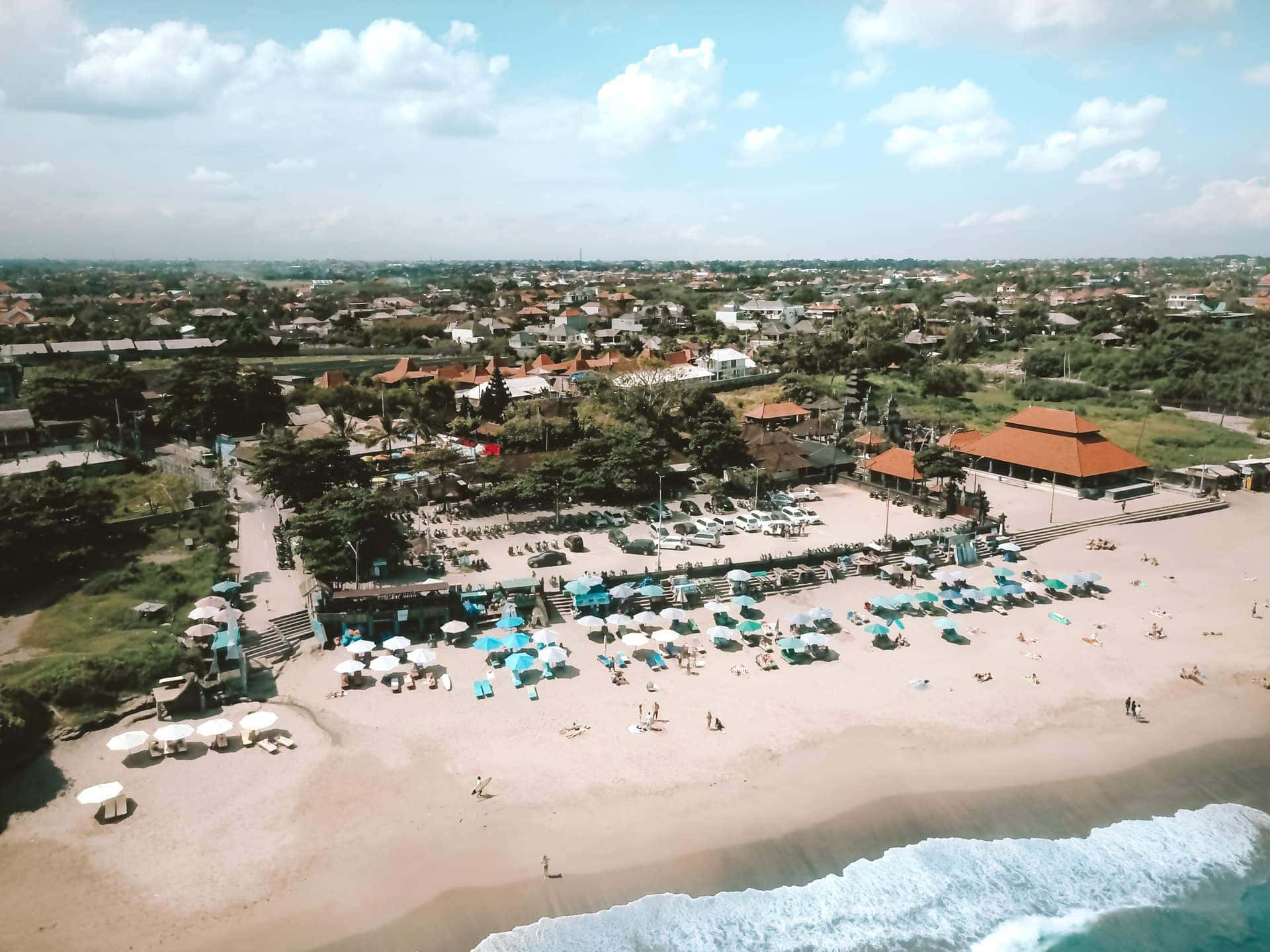 things to do canggu bali beach drone