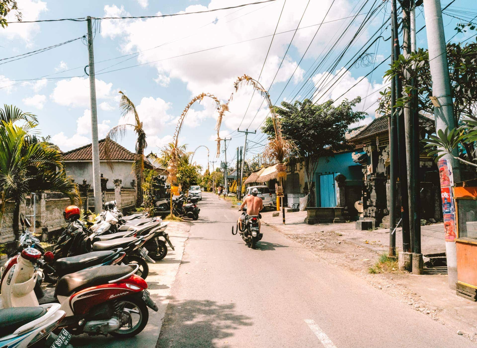things to do canggu bali street