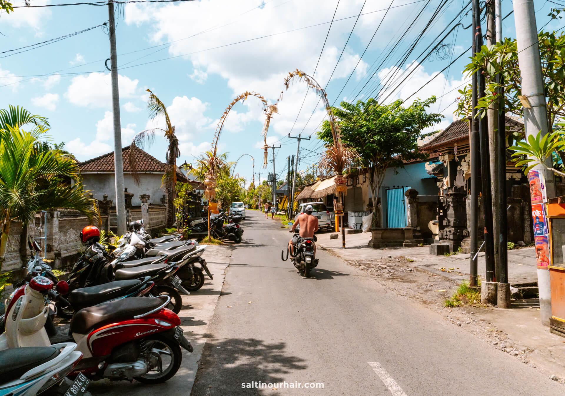 things to do canggu bali street