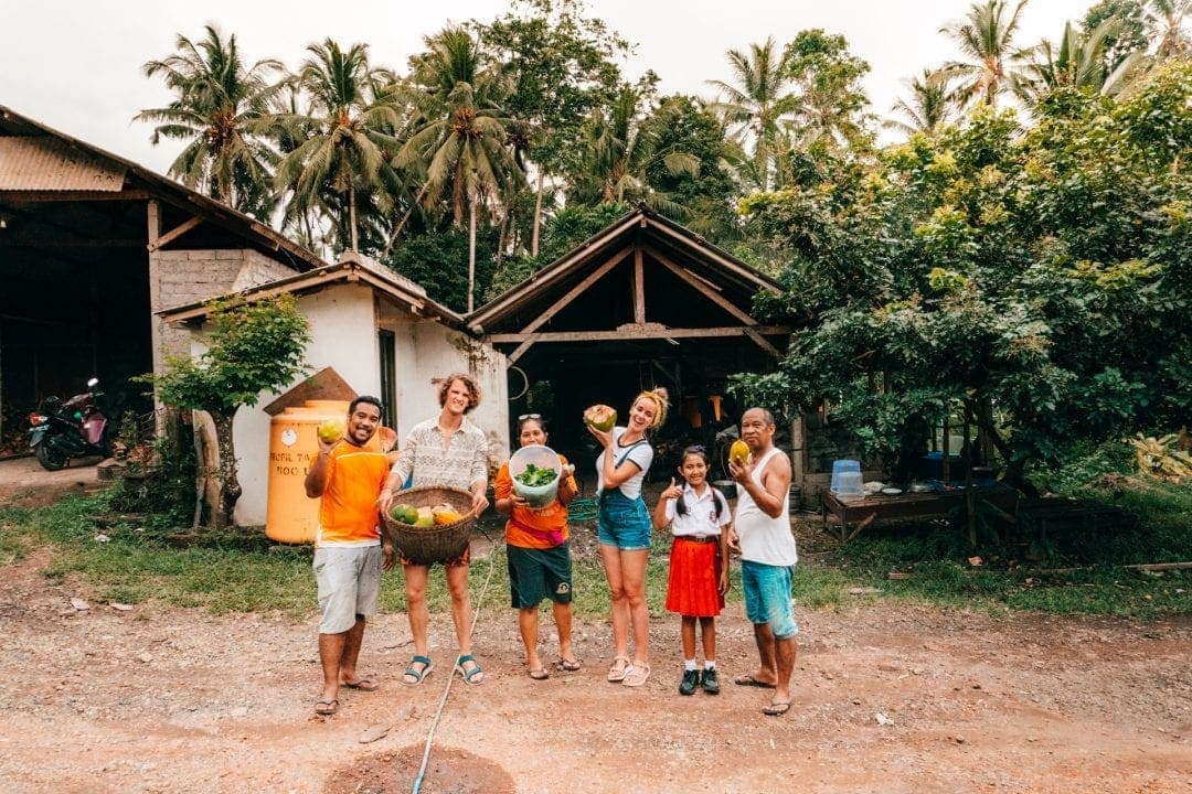 bali stay with locals family