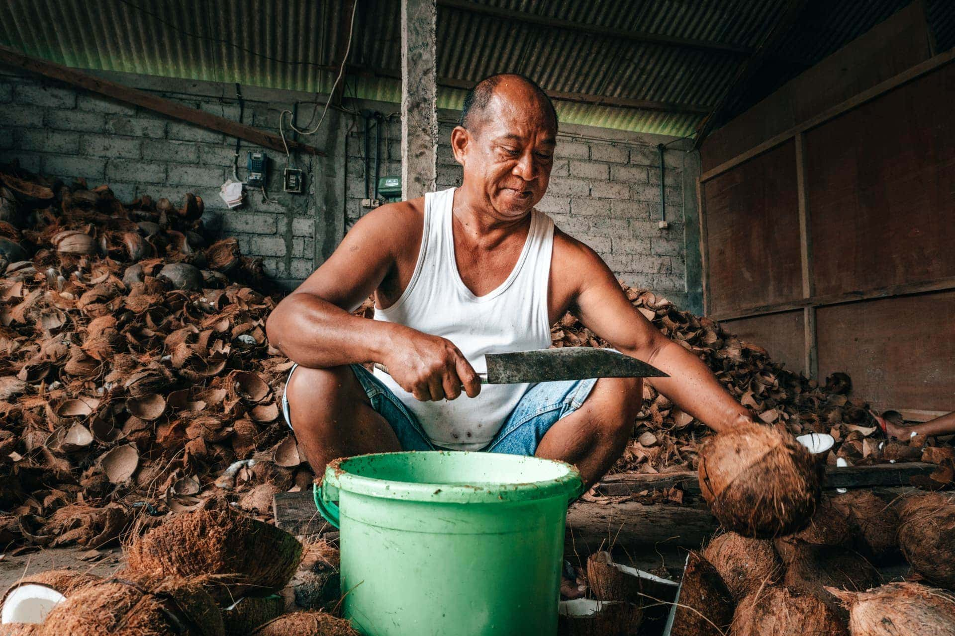 bali stay with locals farm coconuts