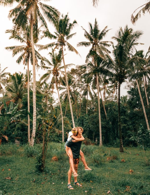 bali stay with locals happy