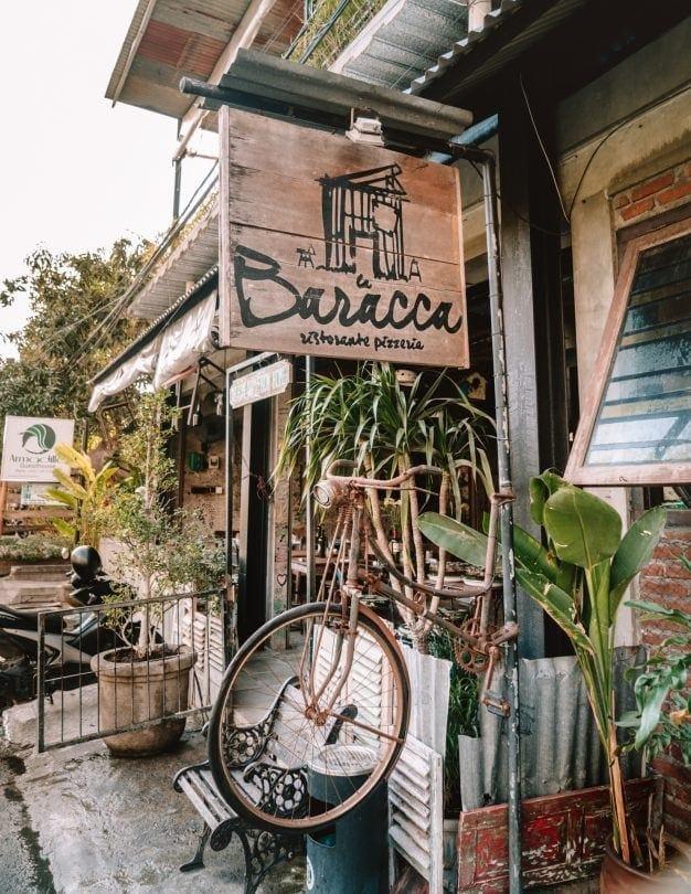 best restaurants canggu baracca italian