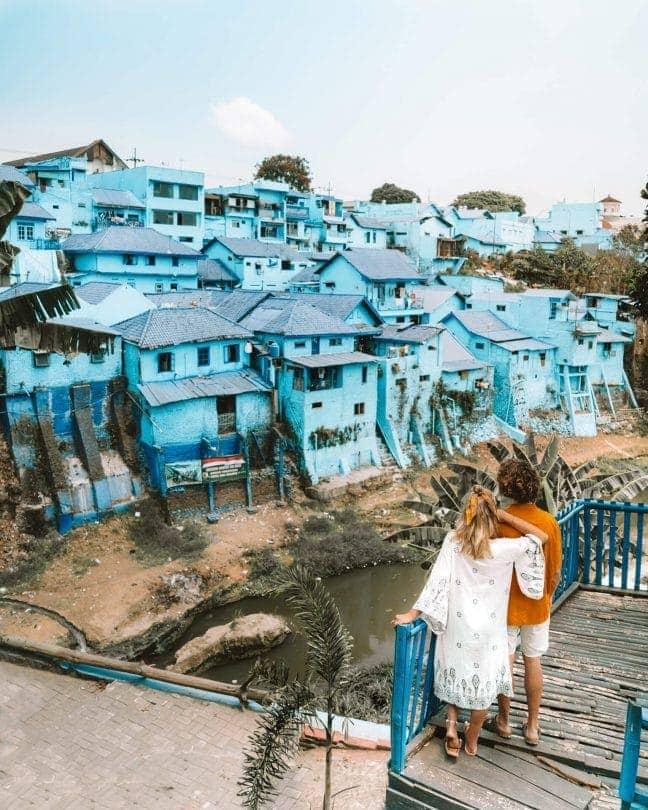 indonesia route java bali flores blue village malang