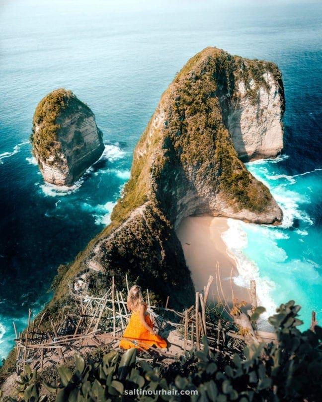 indonesia route java bali flores nusa penida kelingking
