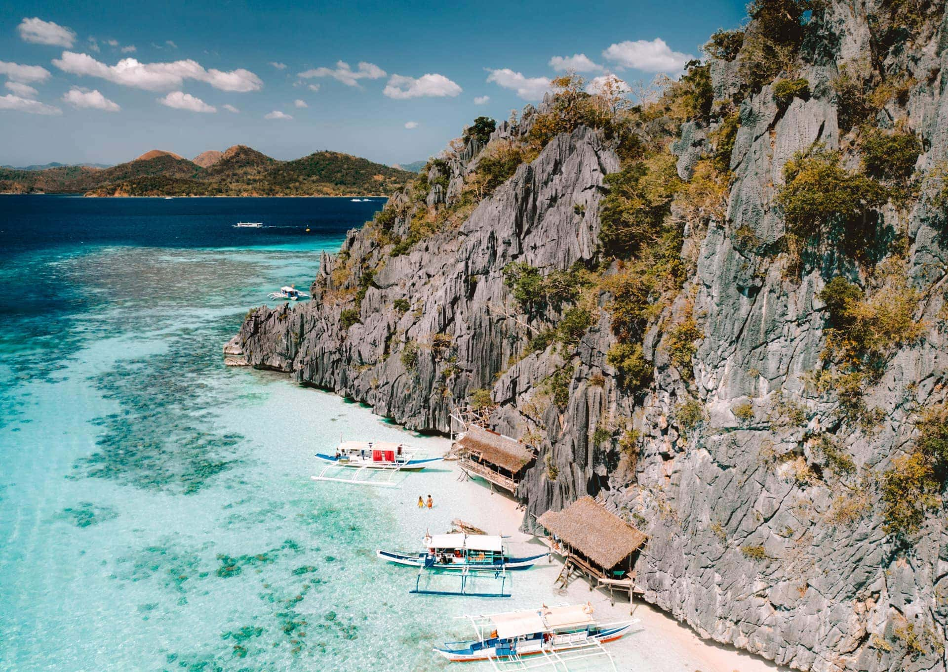 things to do coron philippines banol beach drone