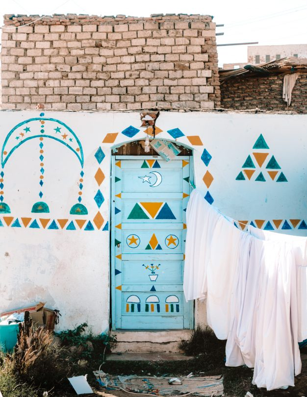 nubian village egypt colorful door