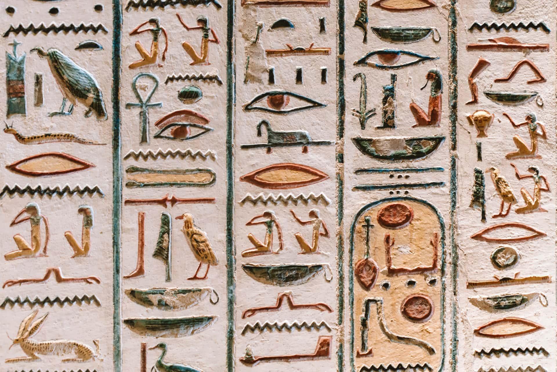 hieroglyphs egypt