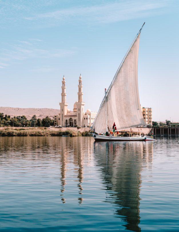 nubian village egypt feluca