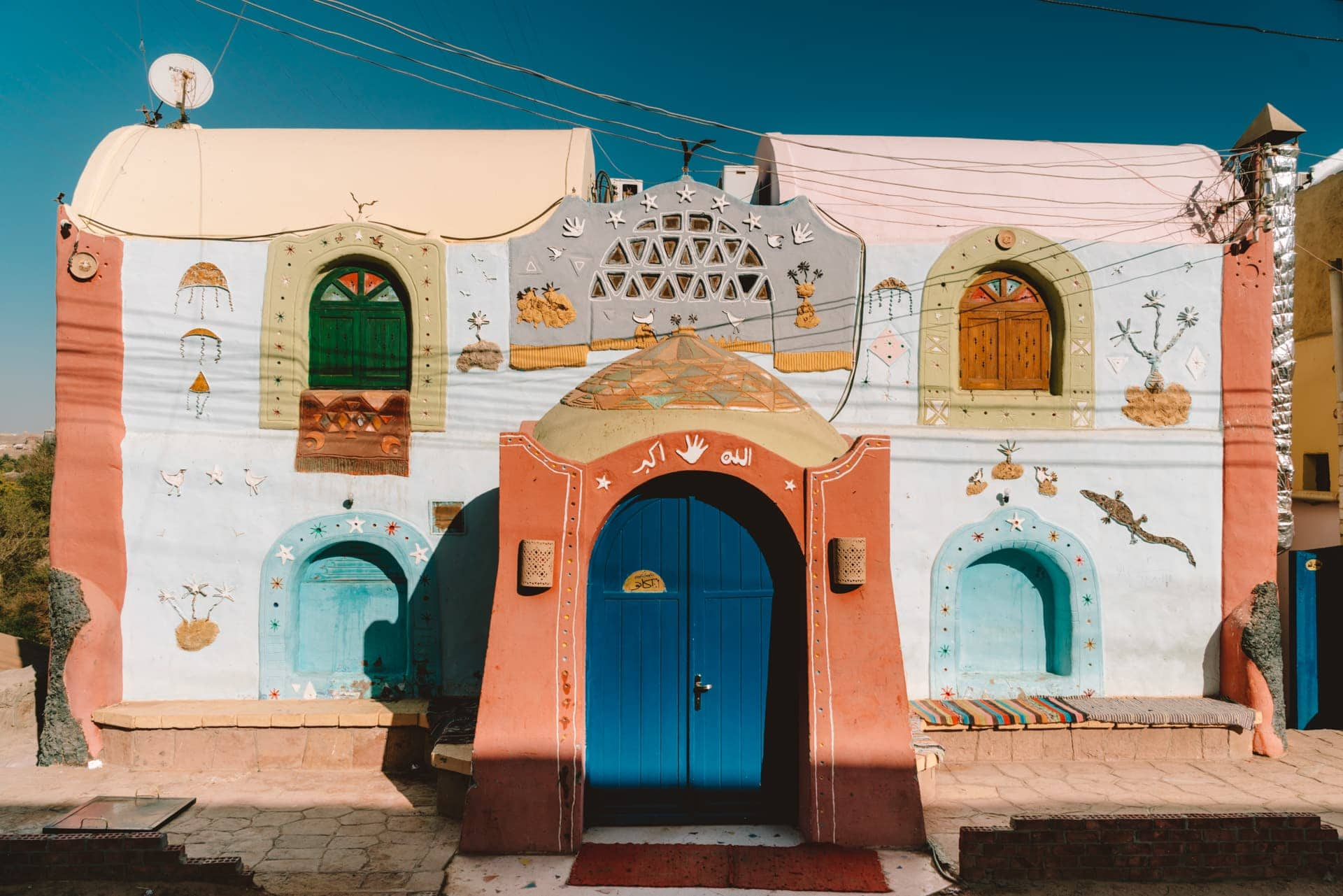 colorful nubian village Egypt