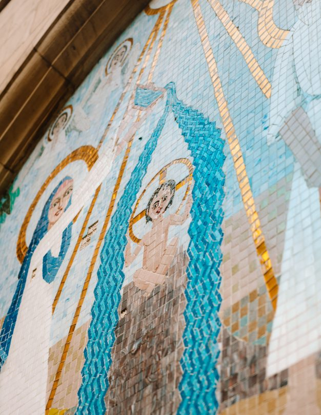 hanging church ciaro mosaic