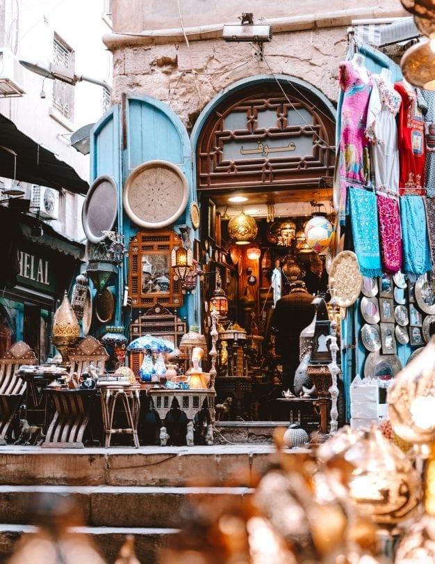 Khan El-Khalili souk market cairo souvenir