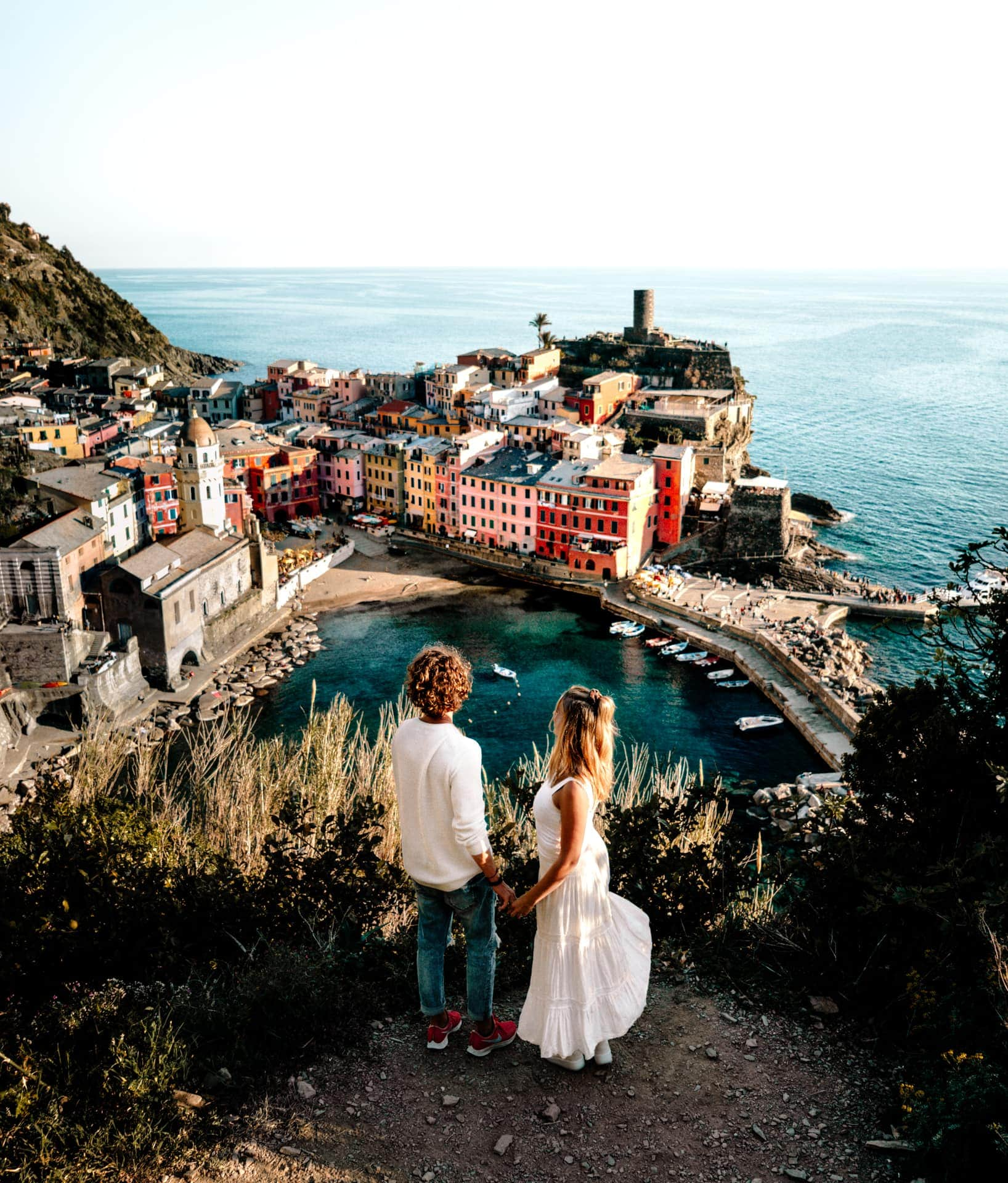 Vernazza Cinque Terre italy viewpoint