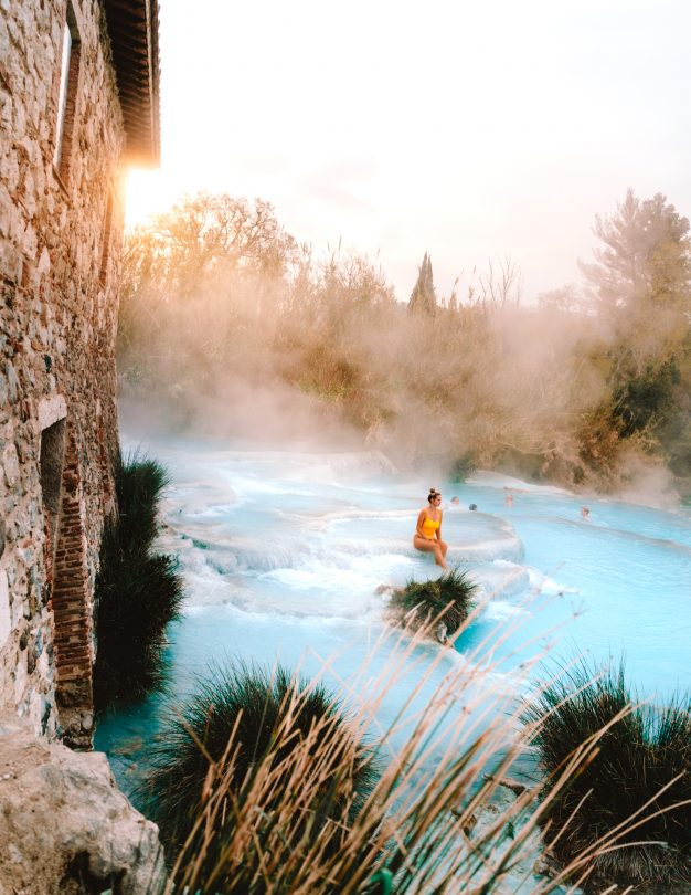 blue Hot Springs Tuscany italy