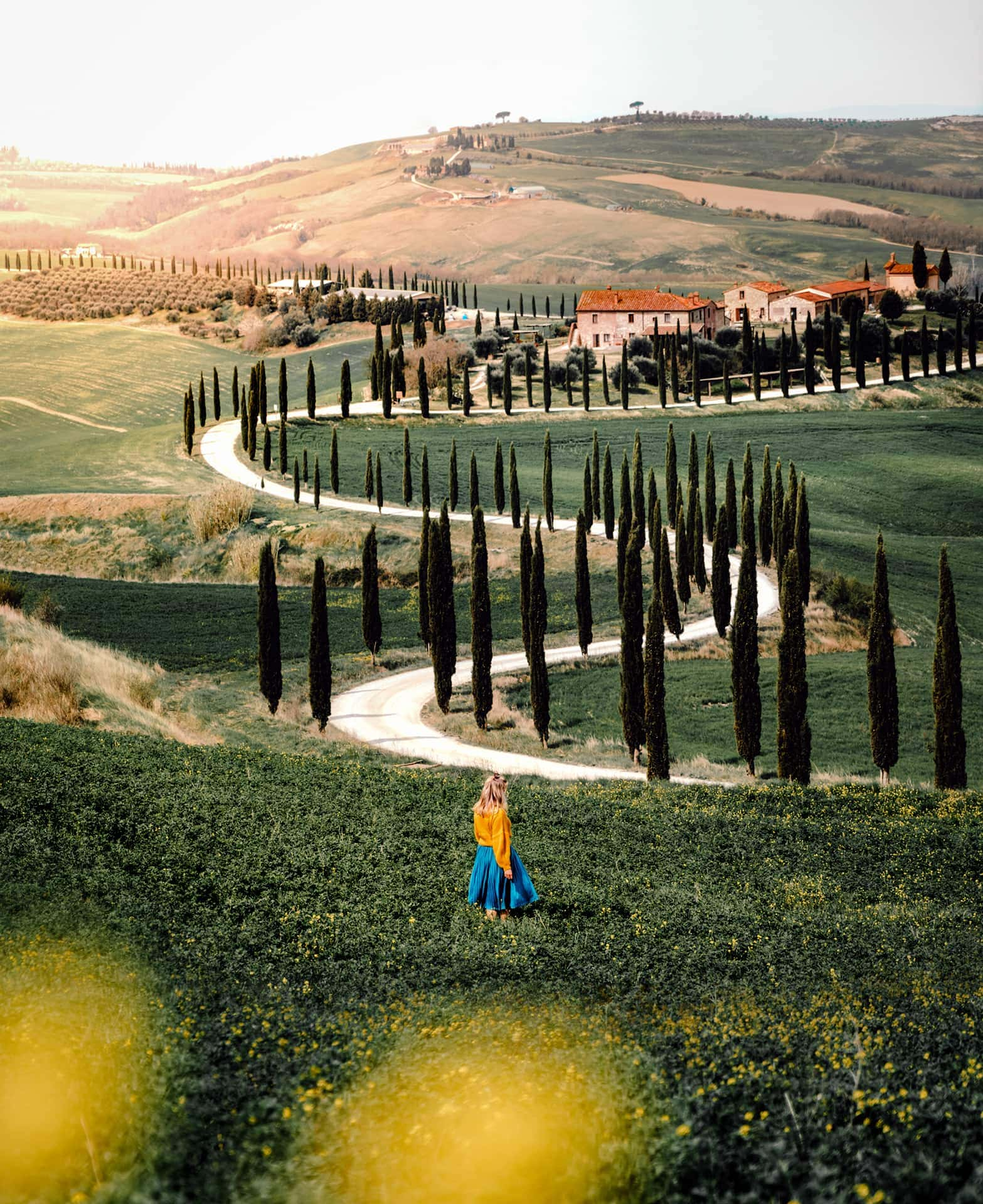 things to do Tuscany road